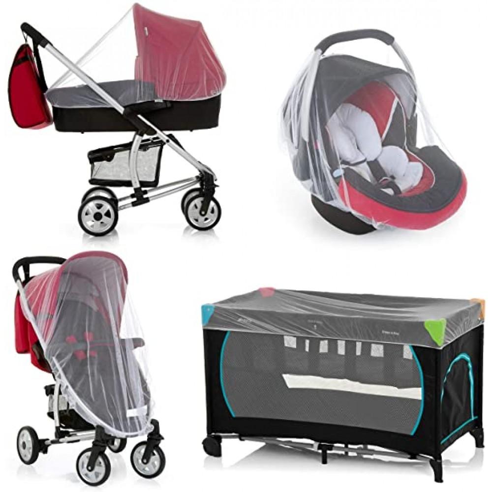 2x Zanzariera per passeggino carrozzina , ovetto e lettino del tuo bambino