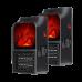 Stufetta portatile ventilata con effetto fiamma simulata