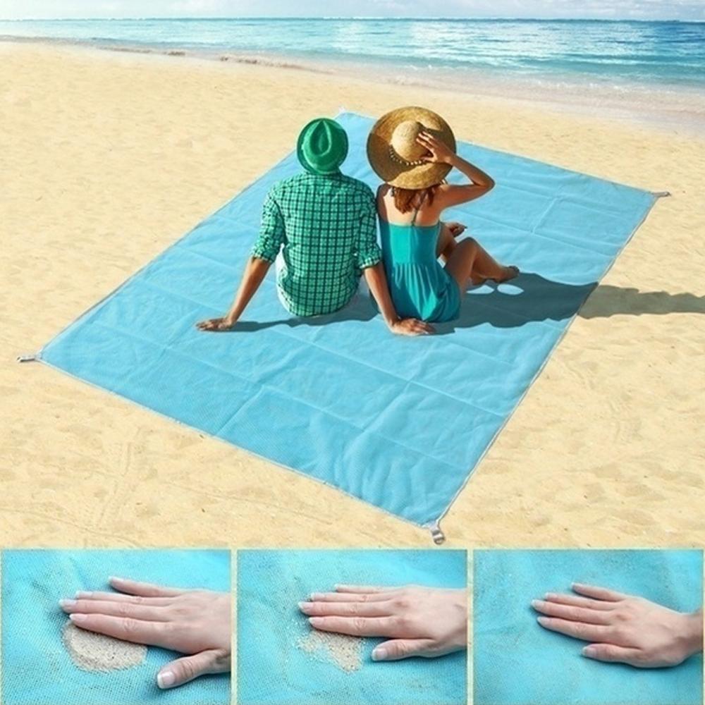 Telo Antisabbia Portatile Impermeabile per Spiaggia, Viaggi e attività All'aperto
