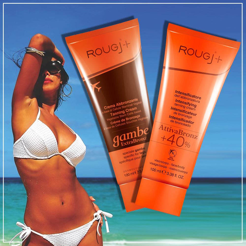 Rougj+ Coppia Abbronzante per viso/corpo e gambe 100ml