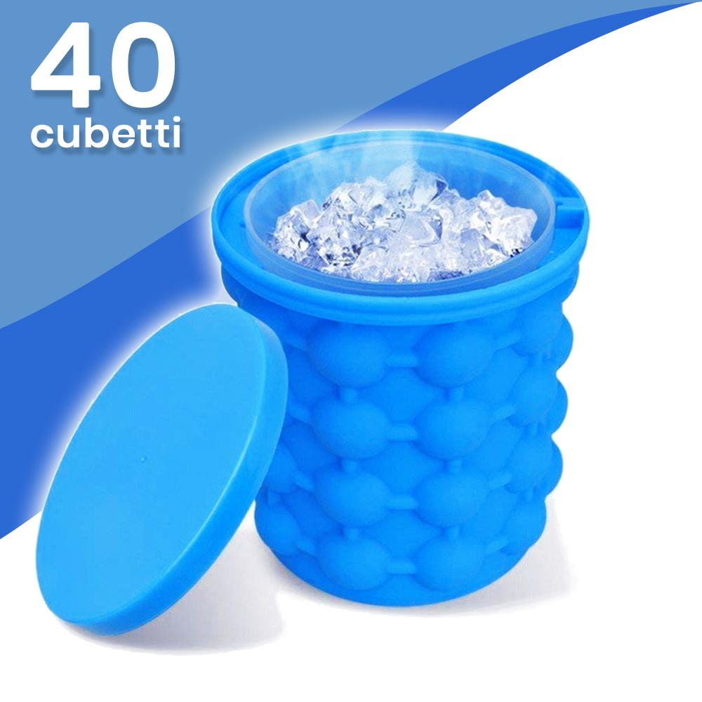 2 Ice Box Secchiello che produce fino a 40 cubetti pronti all'uso
