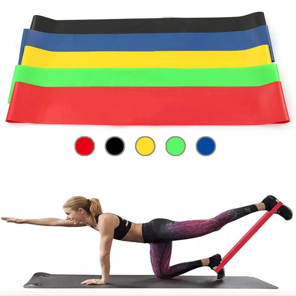 Set da 5 fasce di resistenza per stretching, crossfit, trazioni e ginnastica