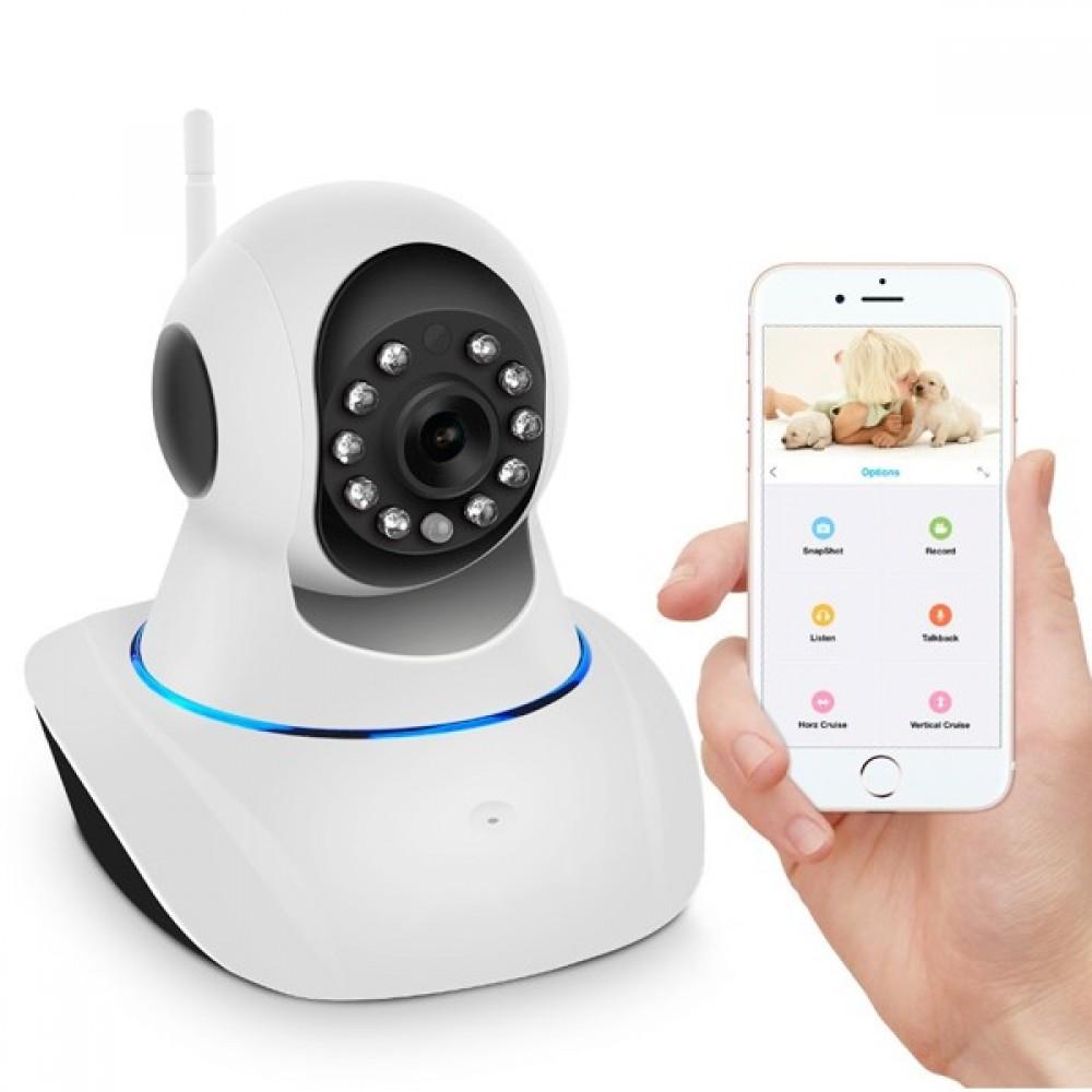 IP Camera completa Wi-Fi con App - Motorizzata con Sensore Infrarossi e  allarme