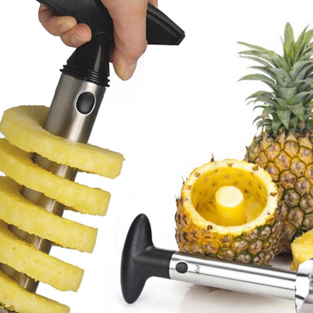 Taglia Ananas Professionale in Acciaio Inox 3X1 Taglia, Sbuccia e Affetta in pochi secondi