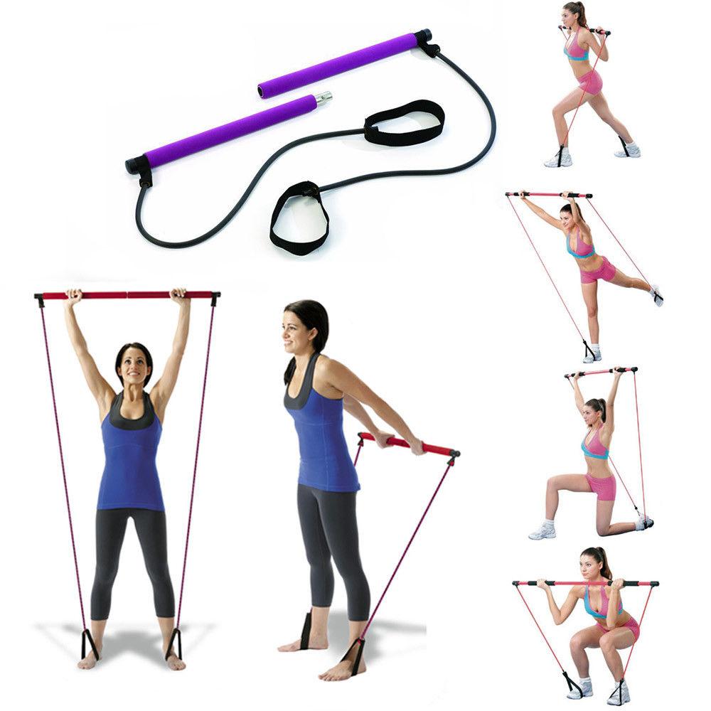 Barre elastiche per esercizi Yoga, Pilates, Braccia, Resistenza ed esercizi fisici