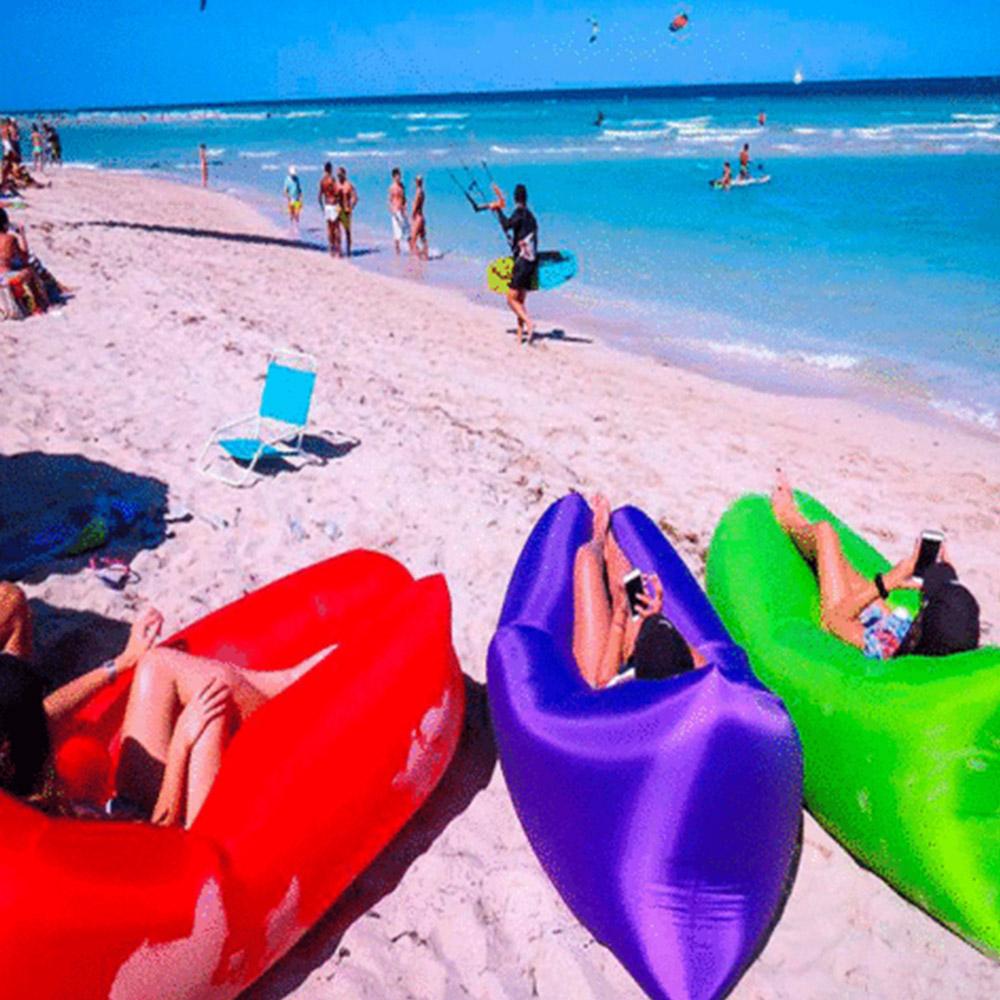 Lettino Gonfiabile Spiaggia.Lettino Gonfiabile Mare Sacco Divano Banana Letto Ad Aria Sofa Air Bag Siaggia Sleeping Relax