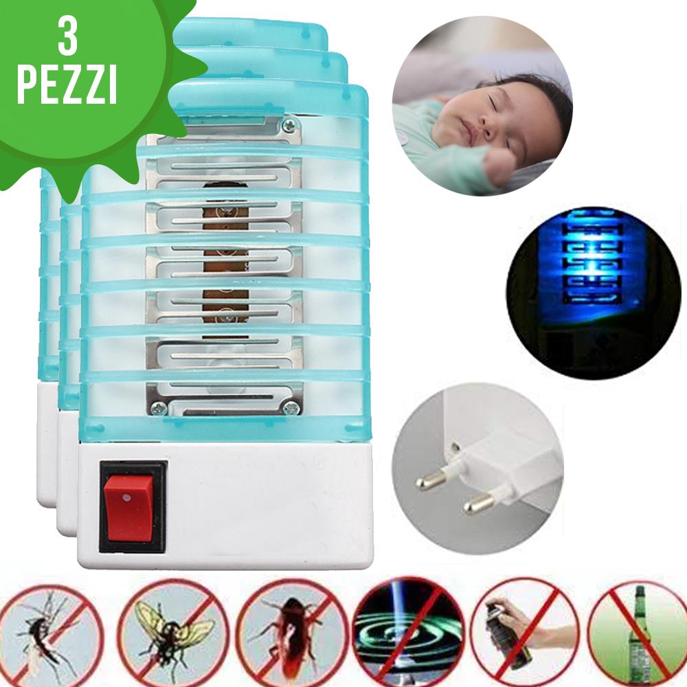 3 dispositivi Anti-Zanzare elettrico a doppia azione, dormire senza usare prodotti chimici