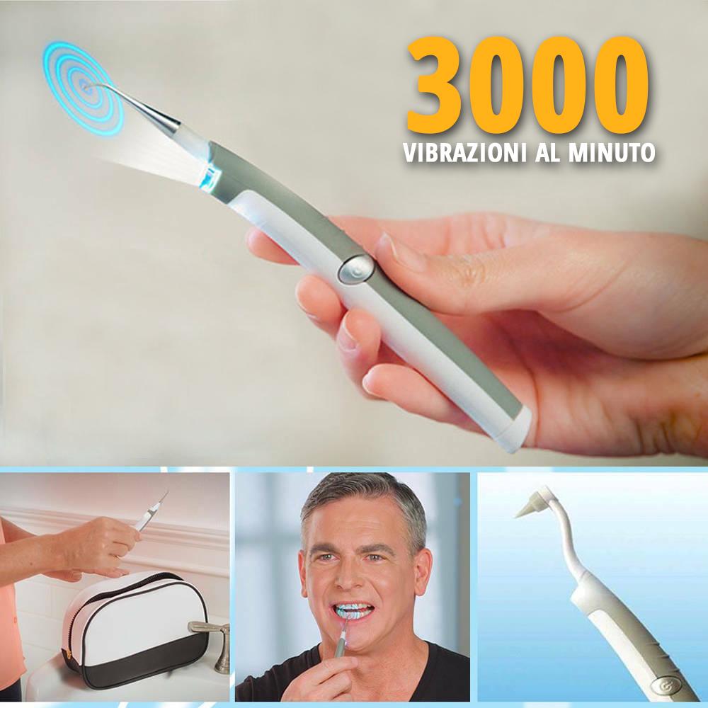 Sistema completo per la pulizia dei denti Pic Sonic da 3000 vibrazioni soniche