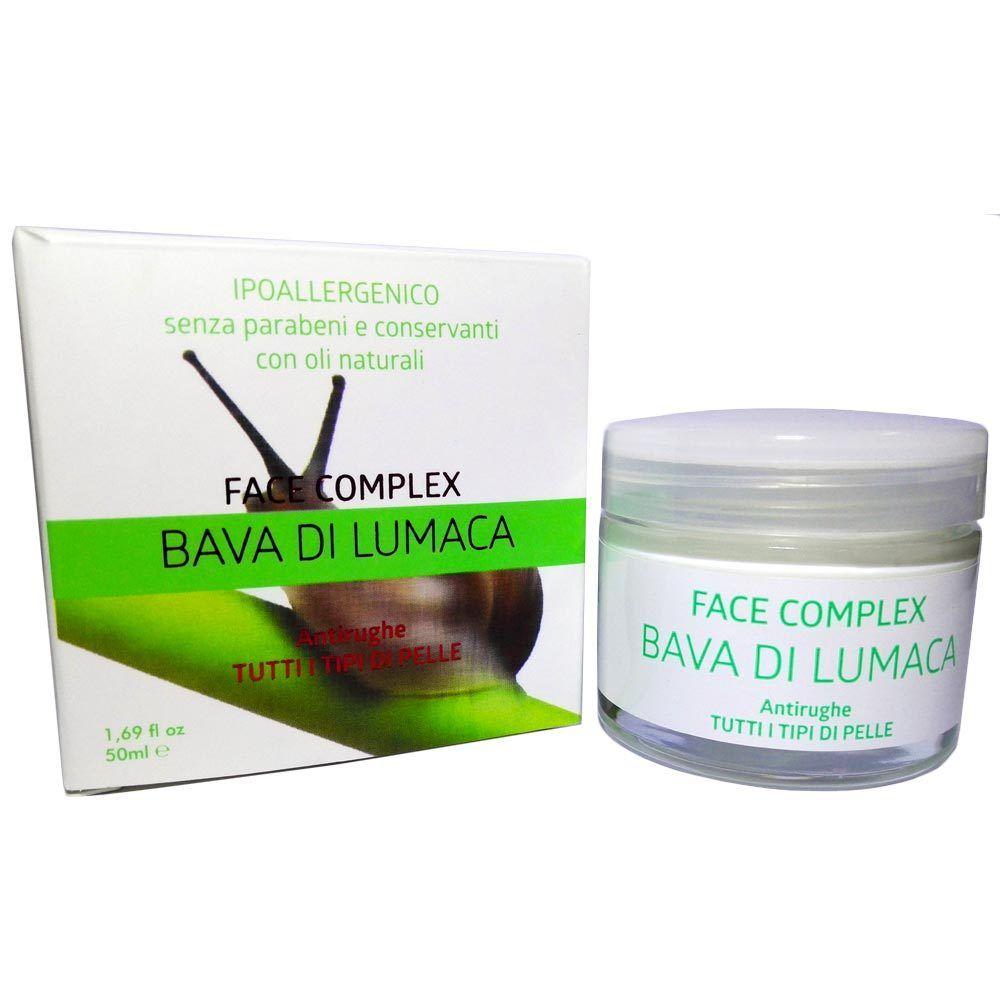 Crema Bava Di Lumaca Biologica 50ml Anti-eta Antirughe Face Complex Ipoallergenico