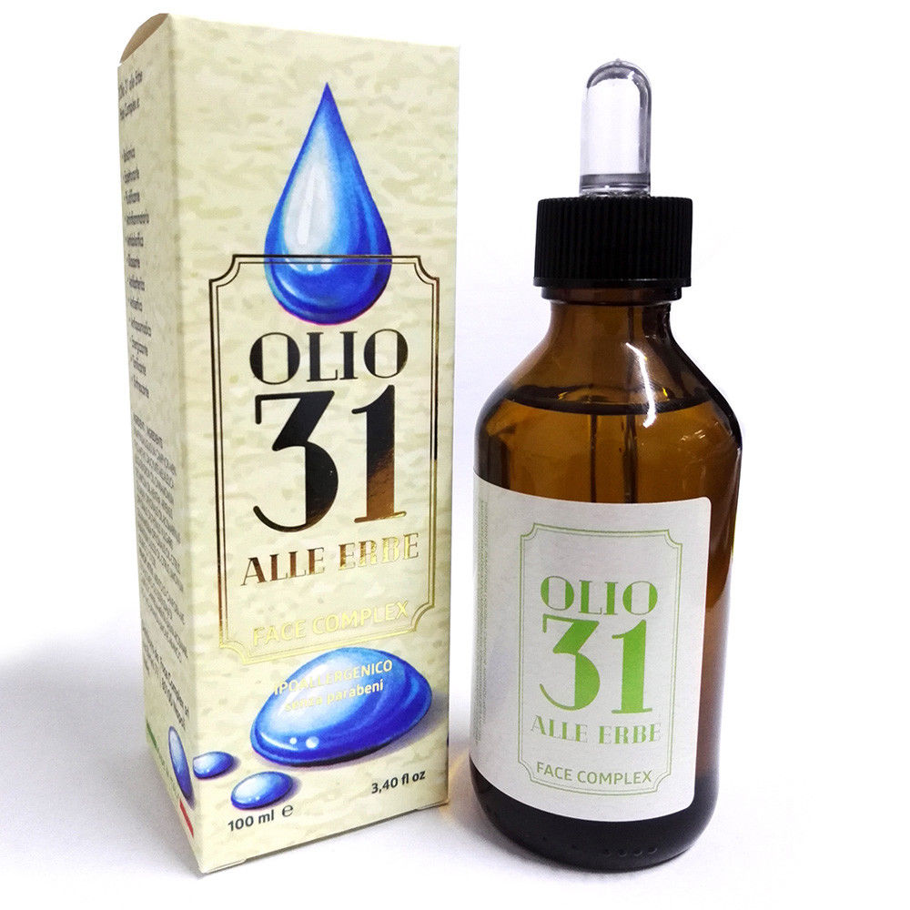Olio 31 alle erbe ipoallergenico senza parabeni da 100ml.