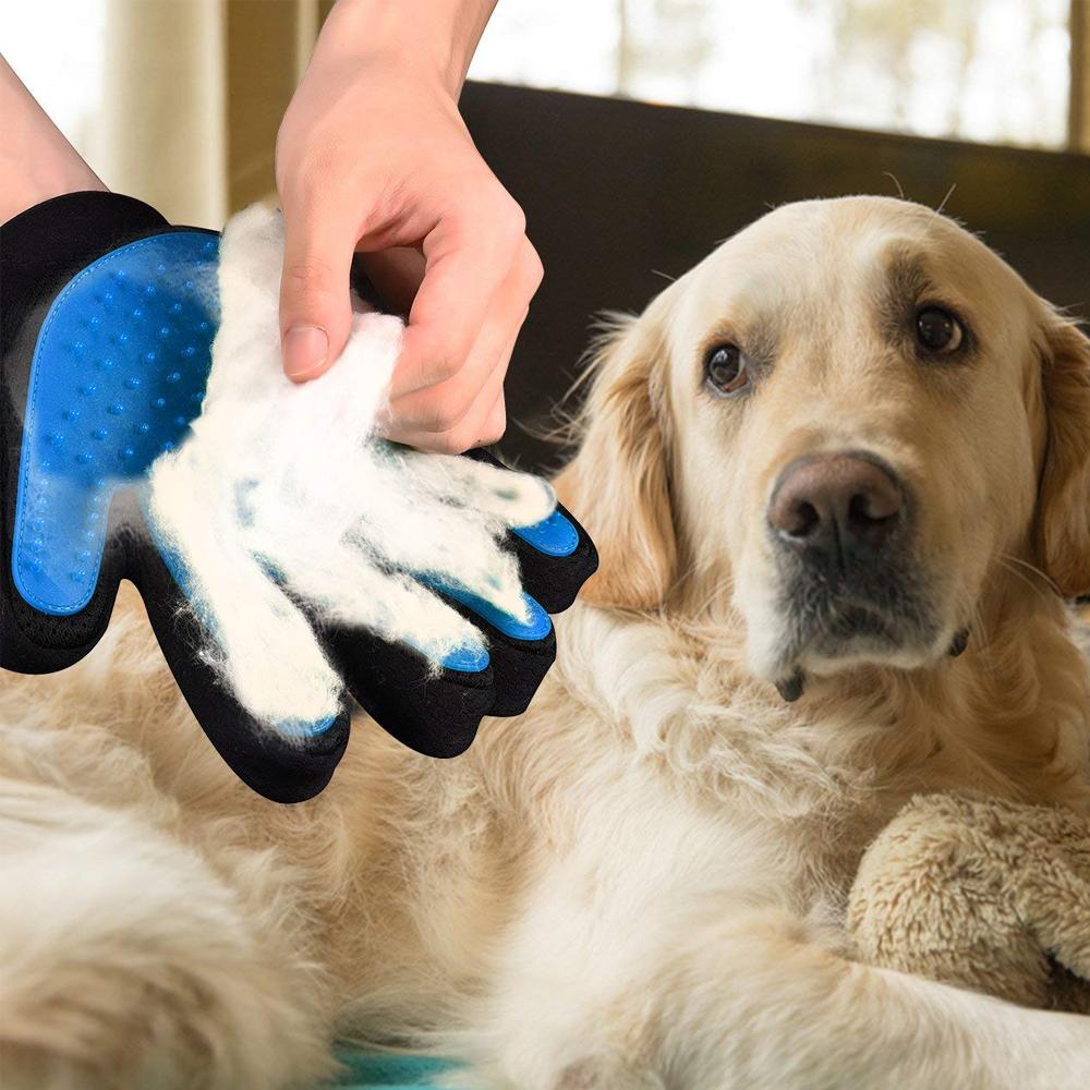 2x Guanti Magici per Cani, Gatti per Massaggio e Pulizia, per Spazzolare i Peli e Accarezzare Gli Animali