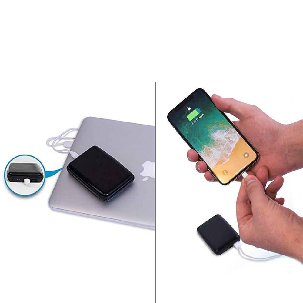 E-Charge 2x1 - Powerbank, Porta carte di credito e protezione anti contactless