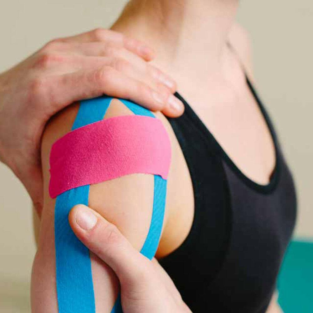 Fascia Nastro Kinesio Elastico Supporto Muscolare Sport Rotolo Tape Kinesiologia